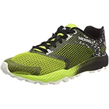 All out Crush 2 GTX, Zapatillas de Running para Asfalto para Hombre, Negro (Black Black), 46.5 EU Merrell