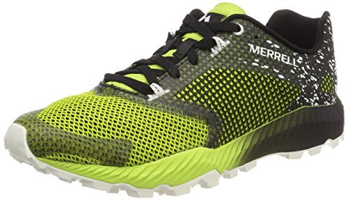 Merrell All All out Crush 2, Scarpe da Trail Running Uomo, Nero (Black/Speed Green), 43 EU