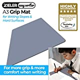 ZIELER Easywriter GRIP MAT pour Zieler Easywriter Ergonomic A3 Slope. Empêche votre livre ou votre tablette de glisser et offre plus de confort lorsque vous écrivez sur une surface dure (1mm, Gris)