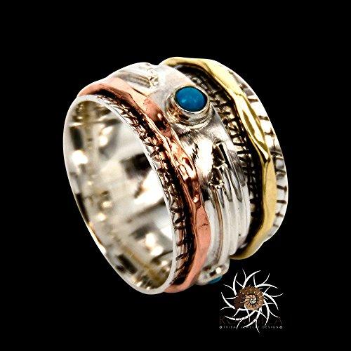 spinner-ring-meditation-ring-anti-stress-ring-three-metal-rings-multi-metal-ring-mixed-metal-ring-un