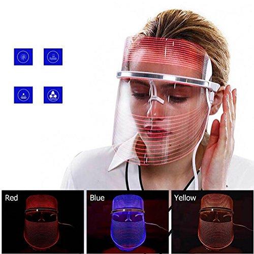 3 Colores Máscara LED Photon Light Terapia De Rejuvenecimiento De La Piel...