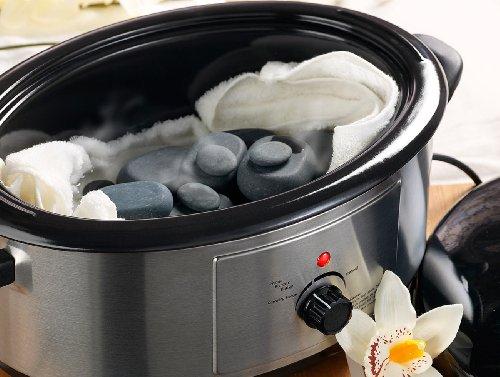 newgen medicals Hot Stone Massage: Professionelles Hot-Stone-Set: Wärmegerät & 23 Steine (Heisse Steine) - Bild 3