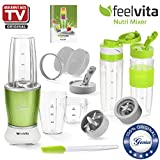 Genius Feelvita Nutri Mixer | 13 Teile | Stand-Mixer | Smoothie-Maker | Mixen | Rühren | 23000 UpM | 600 Watt | 1 Liter | Bekannt aus TV | NEU