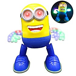 21 CM' Minion Singing and Dancing Minion Robot Battery Operated Musical Flashing Light Minions Toy COME AND TAKE ME HOME + SEE VIDEO