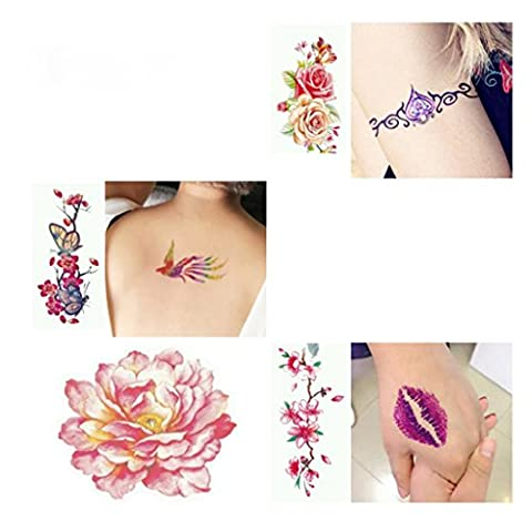 Glitter Tattoo Powder Temporary Tattoo Body Painting Kit Brushes Glue Stencils by Jaminy