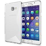 Samsung Galaxy A5 2016 Coque Protection de NICA, Housse Silicone Portable Mince Souple TPU Tele-phone Case Cover Premium Incassable Ultra-Fine Resistante Gel Slim Bumper Etui - S-Line Transparent