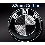 Dunwoth Emblema para capó de BMW E30E36E38E39, color negro