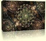 Shining Clear Curved Triangle Bowls Modern Leinwand-Kunstdruck - Box Leinwand-Kunstdruck - auf Rahmen bereit zum Aufhöngen (30in x 20in) Atemberaubende Qualitöt