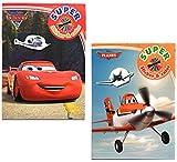 """2x DISNEY Malblock & Sticker Set Din A 4 – """"Cars"""" und """"Planes"""" - Malbuch mit Auto und Flugzeug Aufkleber"""