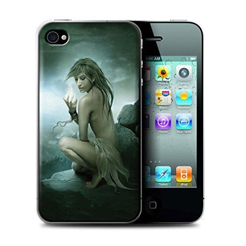 Officiel Elena Dudina Coque / Etui pour Apple iPhone 4/4S / Par le Vent Design / Un avec la Nature Collection Feu Blanc