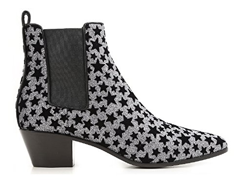Saint-Laurent-ankle-boots-anthracite-glitter-Model-number-443095-GRQ00-8135