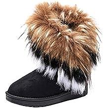 4bf01b1d1f Gaorui Faux Rabbit Pelz Gefüttert Stiefeletten Winterstiefel Schneestiefel  für Damen Mädchen