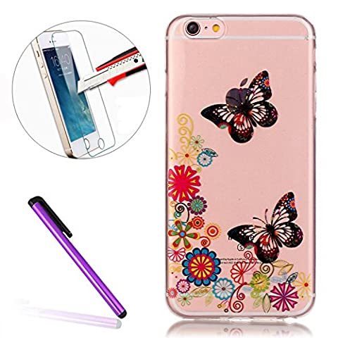 iPhone 6S Case Silicone,iPhone 6 Case,iPhone 6S Cover,EMAXELER Scratch-Proof Transparent