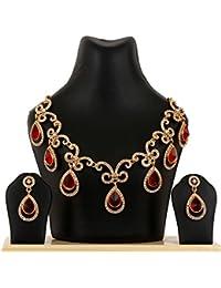 Kpax Fashions Golden Color Alloy Necklace Set For Women,KPX13