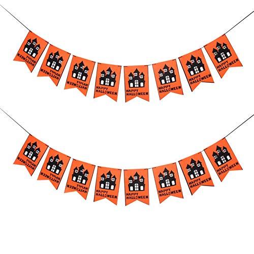 HBWZ Halloween Banner Set vlies Bunting kürbis spinne Fledermaus Party Haunt House dekorieren Halloween Flagge Banner Party Dekoration - Bat Bunting Kostüm