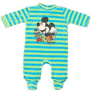 Pijama-beb-nio-Disney-Mickey-verde-y-gris-de-3-a-23-meses-verde-Ray-vertbleu-Talla6-meses