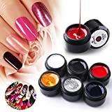 6 colores Nail Spider Gel, Nail Art Spider Gel DIY Design Point To Line Drawing, Wire Drawing Spider Nail Art Esmalte de uñas