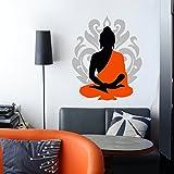 #8: Creatick studio Wall Sticker (Buddha 68*55 CM )