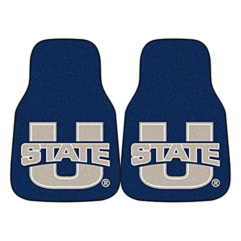 Fanmats 05503 Utah State University 2 Piece Front Car Mats