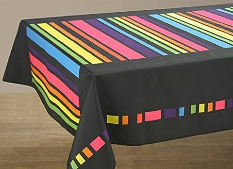 Nappe anti-taches Colors noir - taille : Ovale 150x240 cm