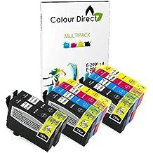 Colour Direct - 10 Compatible Cartuchos de tinta - 29XL Remmplazo Para Epson Expression Home XP-235 XP-332 XP-335 XP432 XP-435 Impresoras. 4 X 2991 2 x 2992 2 X 2993 2 X 2994 ( 10 Tintas )