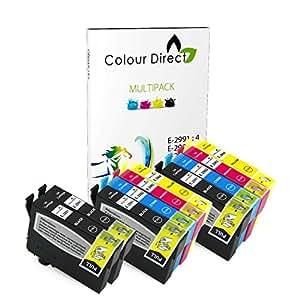 colour direct 10 compatible cartouches d 39 encre 29xl remplacement pour epson expression home. Black Bedroom Furniture Sets. Home Design Ideas