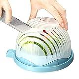 Salat Cutter Bowl, Saienfeng Salatschneider 60 Sekunden Gemüse Cutter Bowl Salatschneider Salat-Schüssel