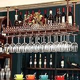 DONGLU Unter Schrank Stemware Glas Kleiderbügel Rack Küche oder Bar Storage (Farbe : 2, größe : 80cm × 35cm)