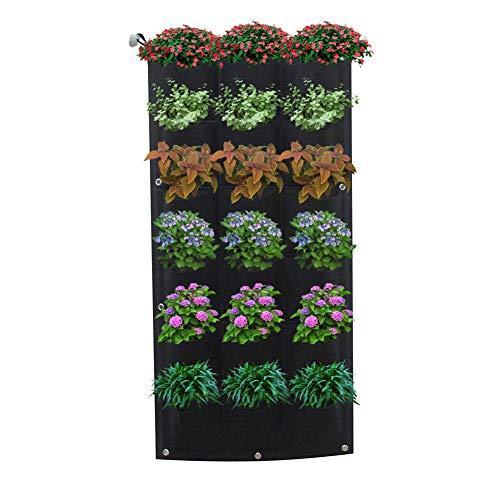 Jycra da appendere alla parete piantare, sacchi per coltivare piantine di giardino verticale fioriera sacchetto appeso fiore per cantieri, appartamenti, balconi, terrazzi