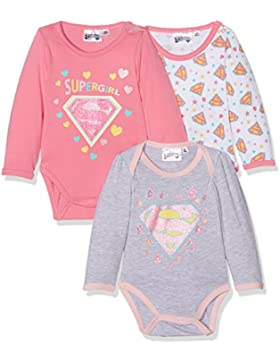 FABTASTICS Supergirl Baby Body Langarm im 3er Pack