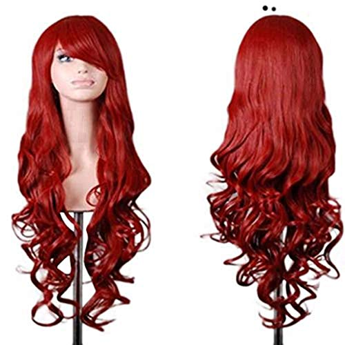 kashyk Perücke, langes Haar + lockige Perücke, Maskerade synthetische Perücke Cosplay Perücke Osterperücke