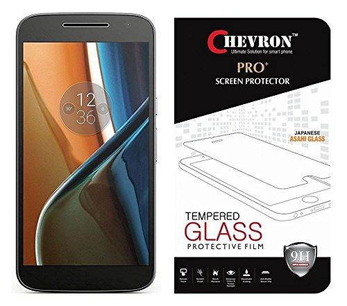 Chevron Tempered Glass For Moto G, 4th Gen (Motorola Moto G4 - Without Fingerprint Sensor Cut)