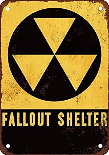 MNUT MarinaPolly Fallout Shelter Vintage Look Reproduktion Pub Home Decor Metallschilder Schild 20,3 x 30,5 cm