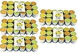 180 Zitronella Duftlichte Teelichter , farbig gemischt , Aromatischer Zitronen Duft , Anti Mücken Kerzen , Duftkerzen , Outdoor Kerzen , Mückenabwehr (180)