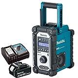 Makita DMR109 DAB 10.8v-18v LXT/CXT LI-ion Job Site Radio With 1 x 4.0Ah BL1840 Battery & DC18RC