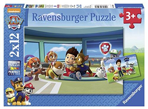 Ravensburger Paw Patrol - Los amigos de Rider, dos rompecabezas de 12 piezas, 26 x 18 cm 75980