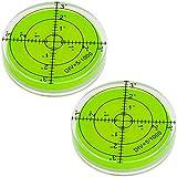 2x Smartfox Dosenlibelle Acryl Wasserwaage rund mit Gradzahlen, Durchmesser 60 x 12 mm