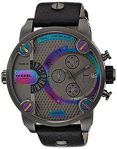 Diesel DZ7270 - Reloj cronógrafo de cuarzo para hombre con correa de piel, color negro de Diesel