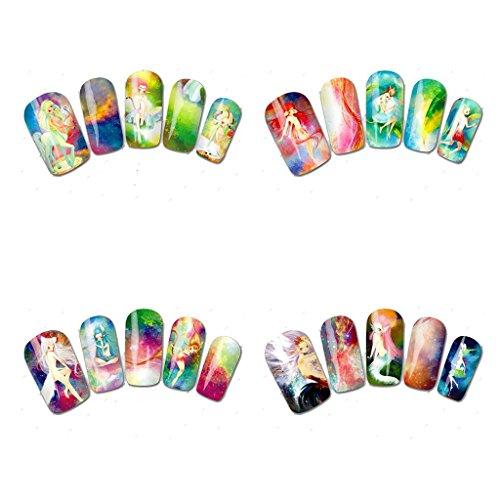 20pcs/Set Autocollant Transfert de l'Eau à Ongles Sticker Nail Art Décoration - Style 8