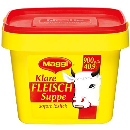 Maggi Klare Fleischsuppe aus Fleischextrakt mit Kräutereinlage & fein gehacktem Gemüse, Sofort löslich, 1er Pack (1 x 900 g Profi Box)