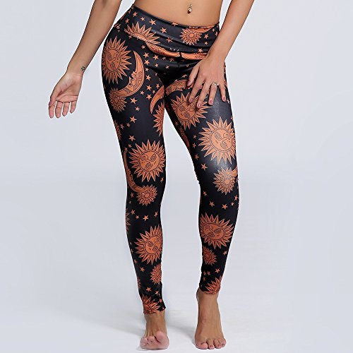 MEI&S Leggings femme imprimé Stretch Yoga Fitness Pantalon sport neuf points collants yoga0123