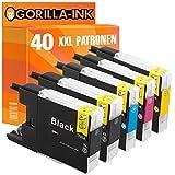 Gorilla-Ink® 40 Druckerpatronen XXL kompatibel für Brother LC 1240