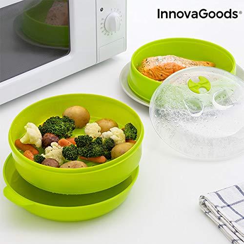 InnovaGoods Vaporera Doble para Microondas Fresh
