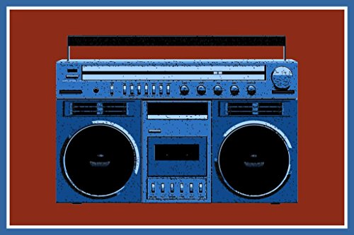 Poster Foundry Boombox Box Retro Vintage Stereo 80er Jahre Musik Tanzen Pop Art Print 36x54 inches Poster