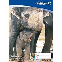 Pelikan 137604 - Zeichenblock A2, C2 / 10 10 Blatt, verschiedene Designs (Tiere)