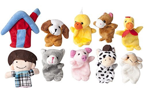 Old MacDonald Farm Animals Finger Puppets (Farm Animal Finger Puppets)
