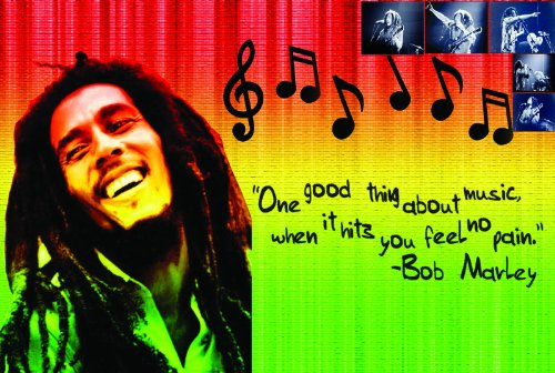 Laminato Bob Marley Rasta Colori Poster Musica | jamaican| artistica da parete con stampa