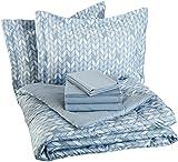 Best queen comforter set - AmazonBasics 7-Piece Bed-In-A-Bag - Full/Queen, Grey Leaf Review
