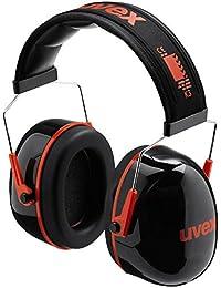 """Uvex Kapselgehörschutz """"uvex K3"""", SNR: 33 dB; Farbe: schwarz-rot; sehr leicht; gepolstert"""