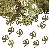 15g Tischkonfetti Zahl 50 Goldene Hochzeit